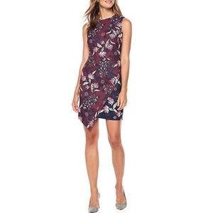 NWT Vince Camuto Asymmetrical Floral Dress